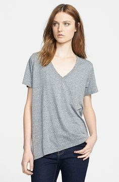 $88, Current/Elliott The V Neck Tee Heather Grey 1. Sold by Nordstrom. Click for more info: https://lookastic.com/women/shop_items/184662/redirect