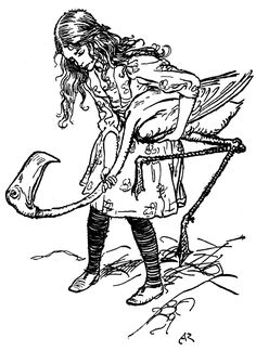 The chief difficulty Alice found at first was in managing her flamingo - Alice's Adventures in Wonderland by Lewis Carroll,1907