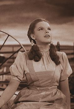 Judy Garland as Dorothy in the Wizard of Oz.