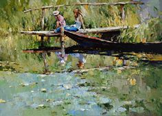 On the lake by Alexi Zaitsev