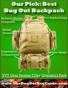 The Bug Out Bag Guide's Backpack Reviews:  Find the BEST backpack for your survival kit!