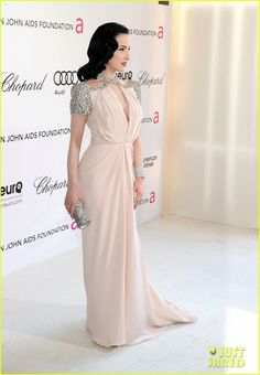 Dita Von Teese in Jenny Packham dress at the Elton John AIDS Foundation Academy Awards Viewing Party on February 26, 2012 in Beverly Hills, Calif.