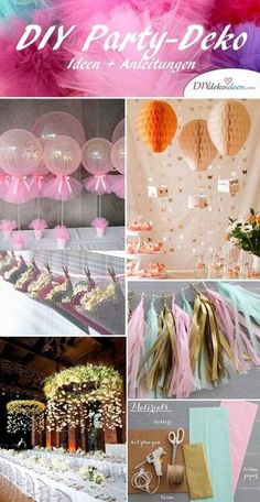 you will find the world's best DIY party decorating ideas! - DIY party decoration ideas for DIY -Here you will find the world's best DIY party decorating ideas! - DIY party decoration ideas for DIY - 18 Birthday, Birthday Parties, Unicorn Birthday, Decor Crafts, Diy And Crafts, Party Table Decorations, Baby Party, Diy For Kids, Party Planning