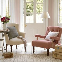 Mix and match armchairs | Small country living room ideas | Decorating | housetohome.co.uk