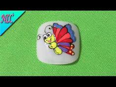 Decoración de uñas Mariposa Fácil De Hacer - Butterfly Nail Art - Como pintar Mariposas -NLC - YouTube Manicure Y Pedicure, Toe Nails, Nail Designs, Beauty, Youtube, Toe Nail Designs, Disney Nails Art, Nail Decorations, Feet Nails