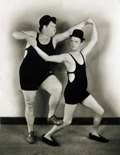 Laurel and Hardy by Unknown Artist