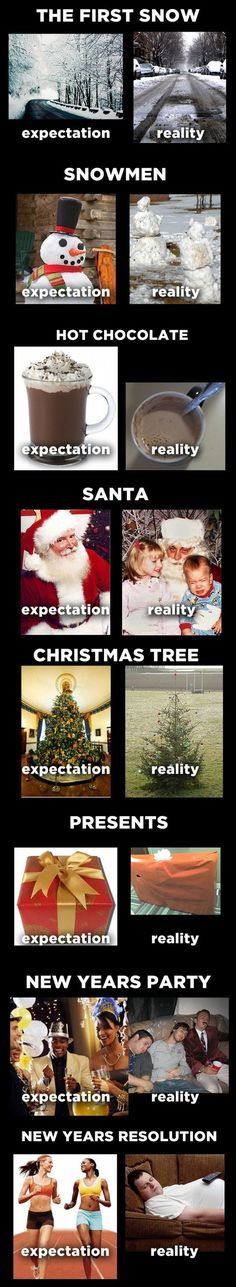 Tis the season for unrealistic expectations. LOL.