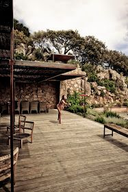 Corsica Dream (House) by Karel Balas for Milk Decoration - Spain Terrace Bois, Porch And Terrace, Outdoor Rooms, Outdoor Living, Natural Architecture, Belle Villa, Stone Houses, Garden Pool, Next At Home