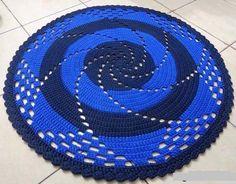 Фото простые круглые коврики крючком