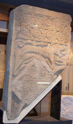 The Dragon Stone, Portmahomack, Ross-shire, Scotland - featured in The Dragon's Dove Chronicles by Kim Headlee Alexandre Le Grand, Celtic Art, Celtic Dragon, Celtic Culture, Anglo Saxon, Dark Ages, Ancient Artifacts, Stone Carving, Stone Art