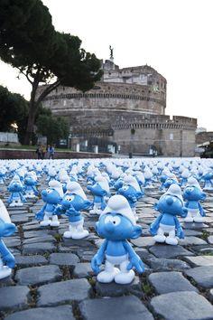 The Smurfs Invade Rome for Global Smurfs Day - My Modern Metropolis
