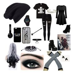 """""""Untitled #53"""" by melissavillalobos214 on Polyvore featuring Halogen, Beats by Dr. Dre, Casetify, Max Factor, WithChic, New Look and adidas"""