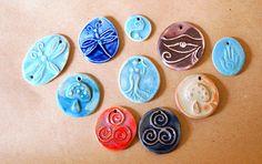 10+Handmade+Ceramic+Beads+-+Sweet+Christmas+in+July+Sale+%3A%29