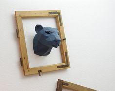 Trophée léopard / panthère PRÉCOUPÉS spécial couleurs « les big five »-arc artisanat bricolage