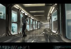Environment Geometry - but it's too dark  Avengers Concept Art Picture  (2d, illustration, sci-fi, environment)