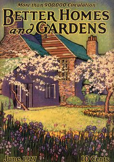 Better Homes and Gardens cover December 1926 vintage snow