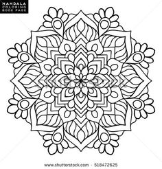 mandala vector floral flower oriental coloring book page outline template christmas indian wedding