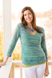 Boardwalk Breeze Top pattern from the Summer 2014 Issue of Love of Knitting magazine
