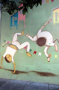 Os Gemeos -  Brazilian street artist - San Francisco #osgemeos #streetart