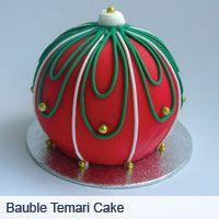 Bauble temari cake