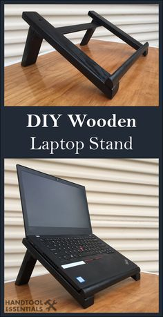 Checkout our woodworking projects to get inspiration for your next masterpiece. All of our creations are made in the U. and are built with the highest degree of craftsmanship. Laptop Diy, Diy Laptop Stand, Wooden Laptop Stand, Tablet Stand, Woodworking Projects Diy, Diy Wood Projects, Woodworking Plans, Diy Holz, Wooden Diy