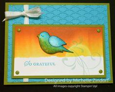 Grateful Bird – Stampin' Up! Card |