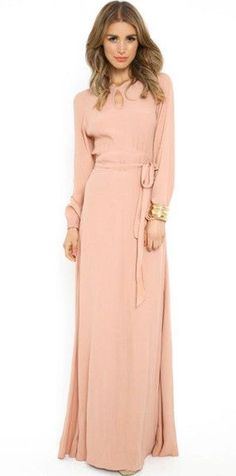 Peachy Keen Dress Maxi from Mode-sty: