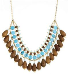 wooden jewelry turquioce | jewelry faux turquoise and wood necklace $ 24 95 faux turquoise ...