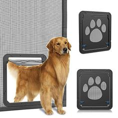 PROCHE Cat Flap Dog Flap 4-Way Locking Cat Door Indoor Pet Door for Small Cats/&Super Small Dogs Easily Install
