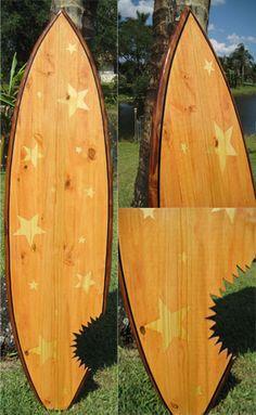 TIKI SOUL DECORATIVE SURFBOARD ART - Nautical Stars  Surfboard decor, beach decor, surfer, decorative surfboard wall art