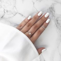 All of the best summer nails (summer nail colors) that are in right now! I love gorgeous nails as much as the next girl and always want to know what to pick during my next summer manicure. If you're looking for easy summer nails or a summer nails DIY, I'v Nail Polish Trends, Nail Polish Colors, Nail Trends, Nail Colors For Pale Skin, Polish Nails, White Oval Nails, White Nail Art, Matte White Nails, White Nail Polish