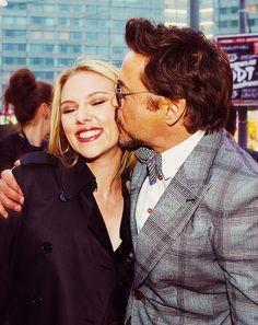 Scarlett and Robert Downey Jr.