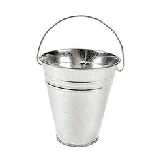 metal buckets and pails