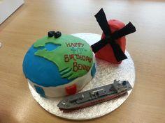 Dutch themed birthday cake