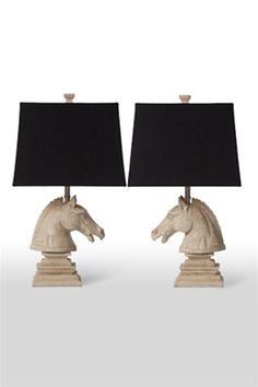 horse head lamps/burke decor