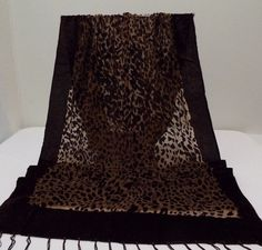 "$17.99  Shawl Wrap Scarf Burnout Brown Animal Print  62"" Animal Print Design #NotBranded #ShawlWrap62Inches #All"