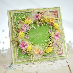 Lemoncraft: Krok po kroku z Asią: kartka z wiankiem - Step by step with Asia: a card with wreath