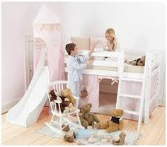 If your child has a bed from Hoppekids, you& never argue with them about going to bed again. Slides, cubbies, bunks - it& an ultimate kids& bed wish list Mezzanine Design, Junior Loft Beds, High Beds, Bed With Slide, Baby Mine, Childrens Beds, Cubbies, Kids Furniture, Girls Bedroom