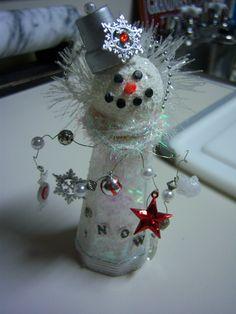 Salt Shaker Snowman... Paper Mache