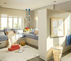 Un cuarto que crece con ellos Childrens Bedroom Decor, Window Benches, Cool Rooms, Girls Bedroom, Home Interior Design, Room Inspiration, Living Spaces, Toddler Bed, House Design