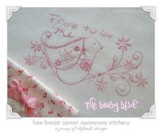 The Booby Bird - free pattern for breast cancer awareness...