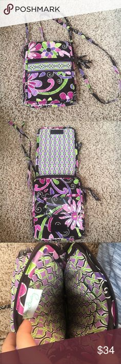 Vera Bradley Crossbody Excellent condition Vera Bradley Crossbody. Has lots of storage! Zip pocket on the outside, slot for name card beneath the flap, 4 card holder spots inside the zip main compartment, room inside zip compartment! Awesome multi use bag! Make an offer! Vera Bradley Bags Crossbody Bags