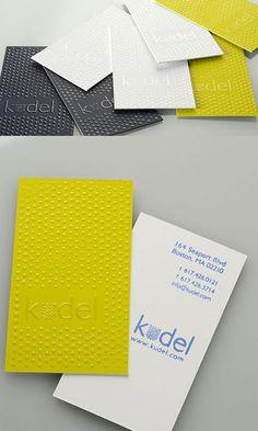 business card  エンボス加工のようですね。 まるで、レゴ風‼