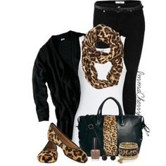 Leopard & Black, created by immacherry on Polyvore