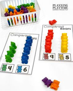 Number Recognition, Counting, & Comparison. - Morning Tubs: Bears