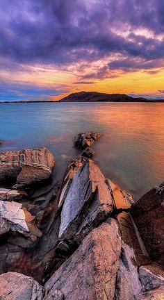 Setting Sun at Lake Tekapo, New Zealand