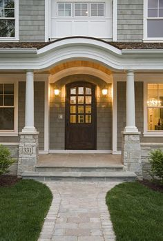 Brow shaped exterior home entrance