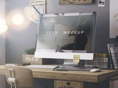 Here is free web display mockup that ready for display your web design. It is ideal for showcase your web design work in modern and elegant way. Free mockup presented by Alex Nikandrov. Mockups Gratis, Computer Mockup, Web Mockup, Mockup Templates, Design Templates, Display Mockup, Web Design Projects, Photoshop, Le Web