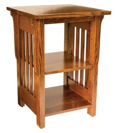 Amish Boston Mission Open Printer Stand Solid wood beauty for your home office or business. Features an adjustable top shelf. Built in choice of wood and stain.