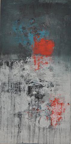 abstrakte Kunst, abstrakte Malerei, abstract painting, Acrylmalerei, 100 x 50 x 4,5 cm, Raut-Malerei